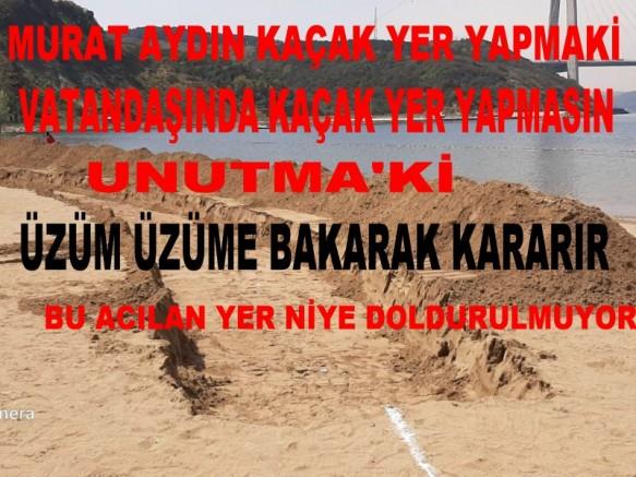 Beykoz belediyesinin kanunsuz Poyraz köyü plajına tutanak tutuldu mu yasal işlem yapıldı mı