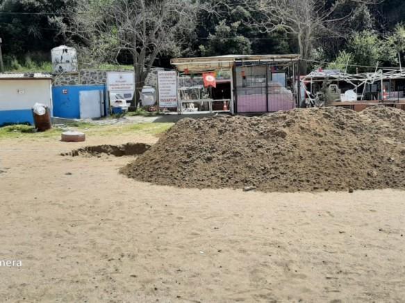 Beykoz ilçesinde  Poyraz köyü plajı betonlaşıyor