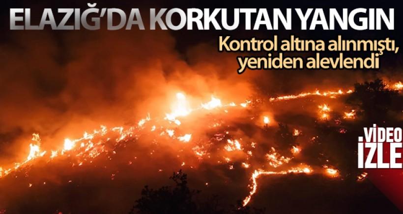 Elazığ'da korkutan örtü yangını