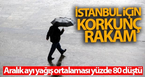 İstanbul için korkunç rakam: Aralık ayı yağış ortalaması yüzde 80 düştü
