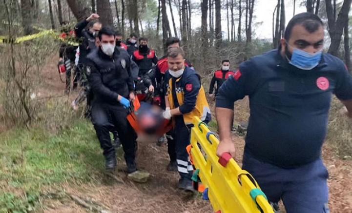 SON DAAKİKA Kartal'da polis memuru ormanda ağır yaralı bulundu