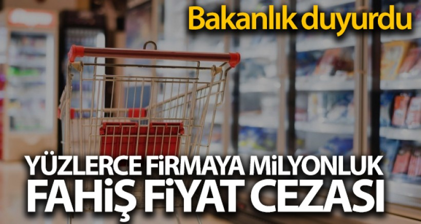 SON DAKİK Haksız Fiyat Değerlendirme Kurulu 120 firmaya 3 milyon 595 bin lira idari para cezası verdi